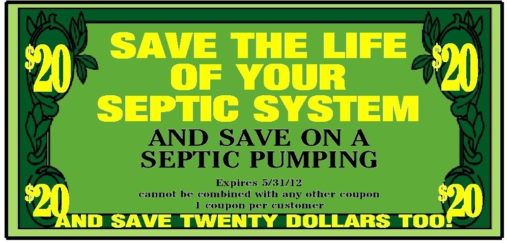 $20 OFF Massachusetts Septic System Pumping, Cleaning